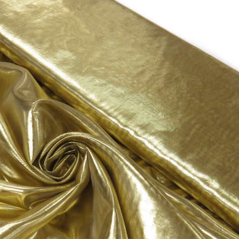 "Gold, Metal Tissue Lame - 60"" wide; 1 Yard"