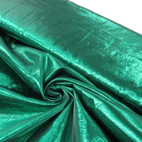 "Green, Metal Tissue Lame - 60"" wide; 1 Yard"