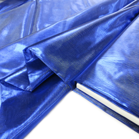 "Royal Blue, Metal Tissue Lame - 60"" wide; 1 Yard"