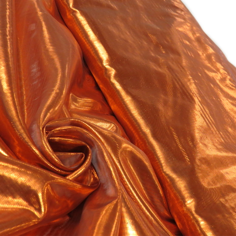 "Bronze, Metal Tissue Lame - 60"" wide; 1 Yard"