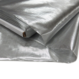 "Silver, Metal Tissue Lame - 60"" wide; 1 Yard"