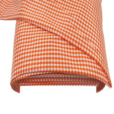 "Orange Gingham Check 1/8- 60"" wide; 1 yard"