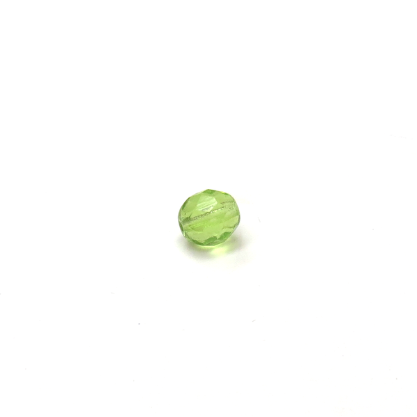 Peridot, Round Faceted Fire Polished; 6mm - 20 pcs