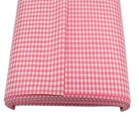 Pink, 100% Polyester Gingham Check 1/8- 58