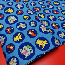 Pokémon 100% Cotton Print Fabric, 44/45