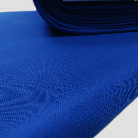 "Blue, BaseBall Knit - 60"" wide; 1 Yard"