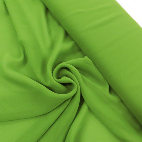 "Avocado, Polyester Chiffon - 60"" wide; 1 Yard"