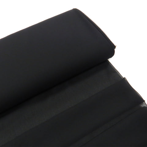 "Black, Polyester Chiffon - 60"" wide; 1 Yard"