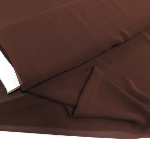 "Brown, Polyester Chiffon - 60"" wide; 1 Yard"