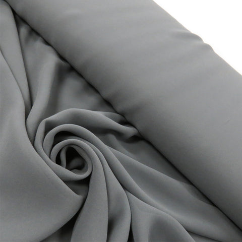"Gray, Polyester Chiffon - 60"" wide; 1 Yard"