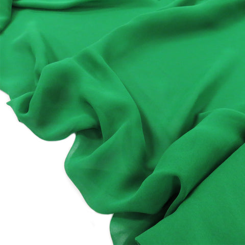 "Green, Polyester Chiffon - 60"" wide; 1 Yard"