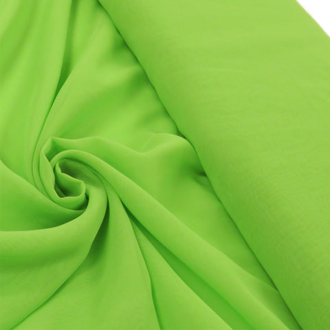 "Kelly Green, Polyester Chiffon - 60"" wide; 1 Yard"