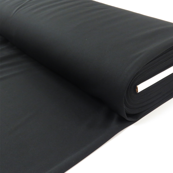"Black, Polyester Cool-Max - 60"" wide; 1 Yard"