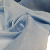 "Baby Blue, Polyester Plain Voile - 118"" wide; 1 Yard"