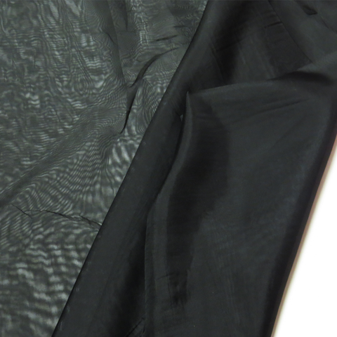 "Black, Polyester Plain Voile - 118"" wide; 1 Yard"