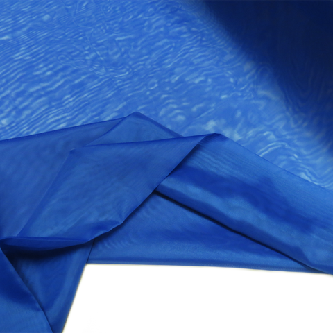 "Blue, Polyester Plain Voile - 118"" wide; 1 Yard"