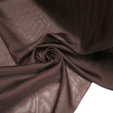 "Brown, Polyester Plain Voile - 118"" wide; 1 Yard"