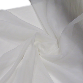 Ivory, Polyester Voile (Mesh) - 118