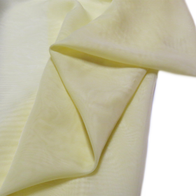 Light Yellow, Polyester Voile (Mesh) - 118
