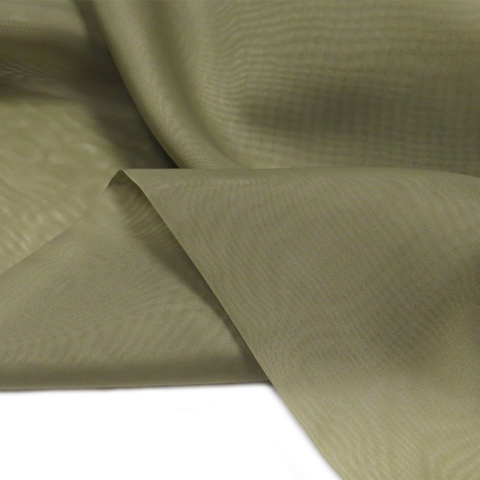 "Olive Green, Polyester Plain Voile - 118"" wide; 1 Yard"