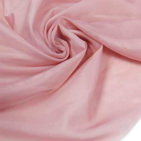 "Pink, Polyester Plain Voile - 118"" wide; 1 Yard"