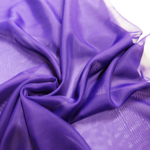 "Purple, Polyester Plain Voile - 118"" wide; 1 Yard"