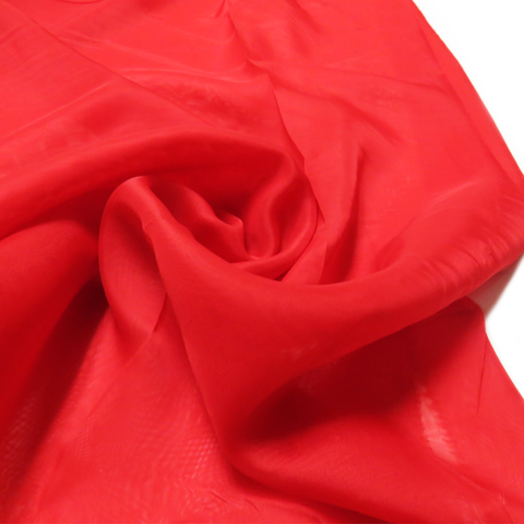 "Red, Polyester Plain Voile - 118"" wide; 1 Yard"