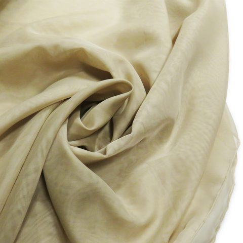 "Sand, Polyester Plain Voile - 118"" wide; 1 Yard"