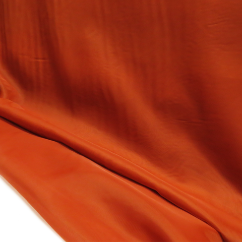 "Terracotta, Polyester Plain Voile - 118"" wide; 1 Yard"