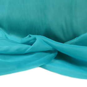 Turquoise, Polyester Voile (Mesh) - 118