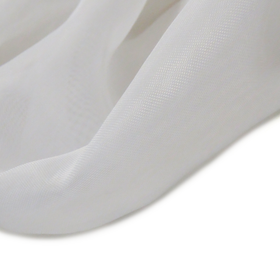 White, Polyester Voile (Mesh) - 118