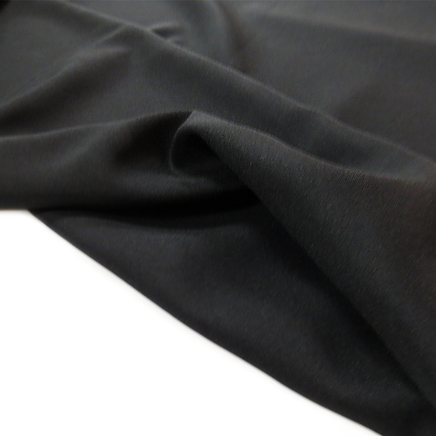 "Black, Textured Polyester Poplin - 118"" wide; 1 Yard"