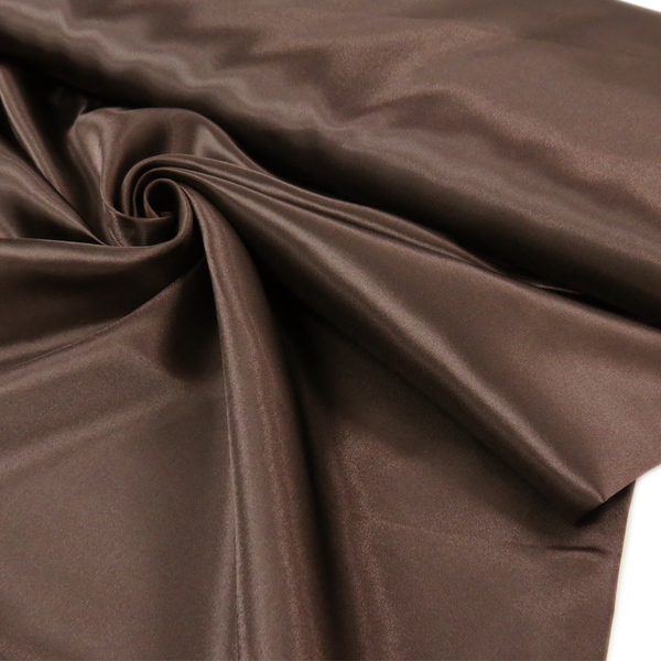 "Brown, Polyester Satin - 60"" wide; 1 Yard"