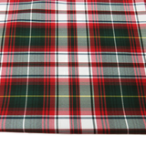 "School Plaids, Red White Green, 60"" Wide; 1 yard"