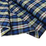 "School Plaid, Blue Yellow Gray #58, 60"" Wide; 1 yard"