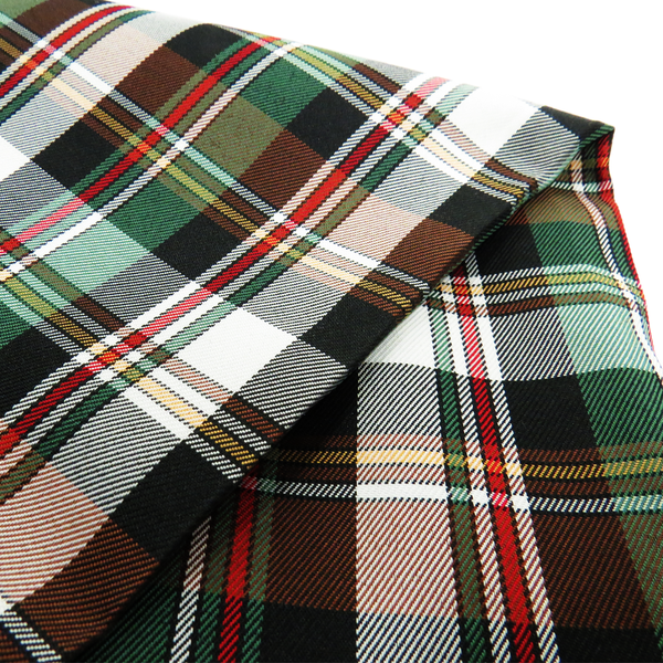 School Plaids, Green Red White Black, 60