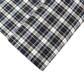 School Plaids, Black White Green Red, 60