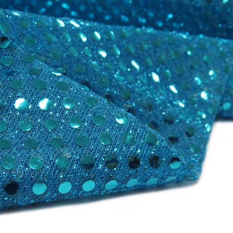 "Blue, Polyester Sequin - 44"" wide; 1 Yard"