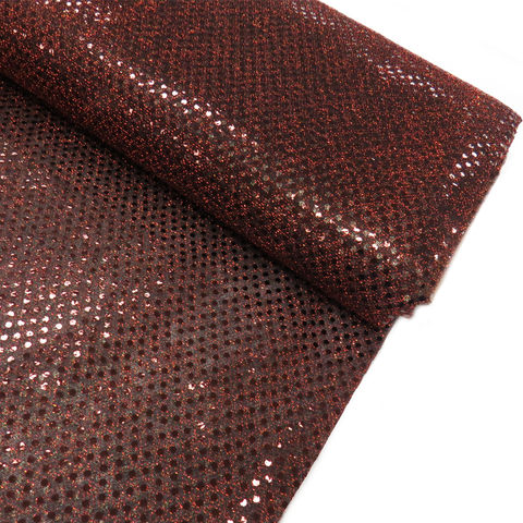 "Brown, Polyester Sequin - 44"" wide; 1 Yard"