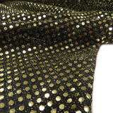 "Black and Gold Polyester Sequin - 44"" wide; 1 Yard"