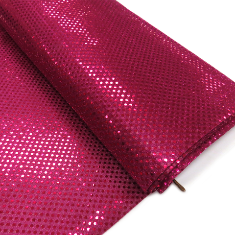 "Magenta, Polyester Sequin - 44"" wide; 1 Yard"