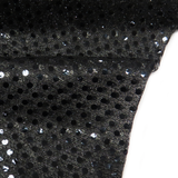 "Black, Polyester Sequin - 44"" wide; 1 Yard"