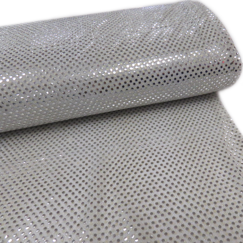 "Gray, Polyester Sequin - 44"" wide; 1 Yard"