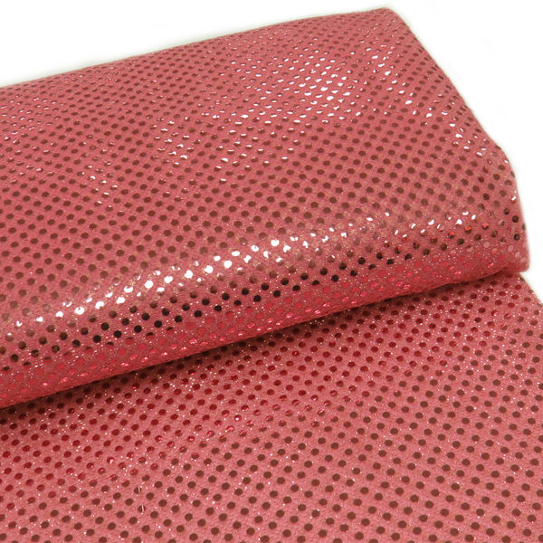 "Pink, Polyester Sequin - 44"" wide; 1 Yard"