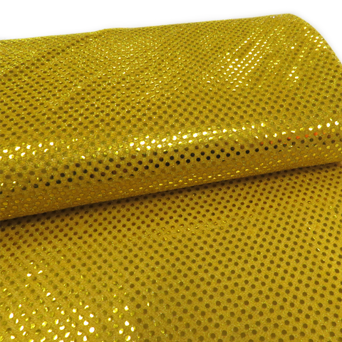 "Gold, Polyester Sequin - 44"" wide; 1 Yard"