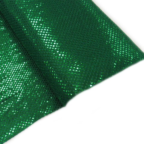 "Green, Polyester Sequin - 44"" wide; 1 Yard"