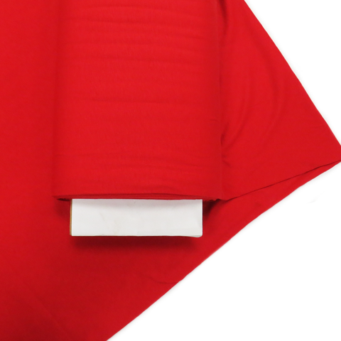 "Red - Polyester Spandex Cotton Knit, 60"" wide; 1 Yard"