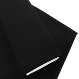 "Black, Polyester Stretch Atlantic Linen - 60"" wide; 1 Yard"