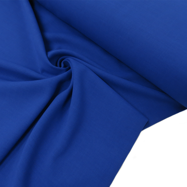 "Blue, Polyester Stretch Atlantic Linen - 60"" wide; 1 Yard"