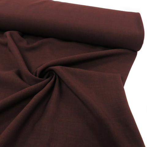 "Burgundy, Polyester Stretch Atlantic Linen - 60"" wide; 1 Yard"